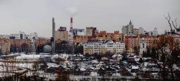 Panorama av den ryska staden av Kaluga i hög upplösning royaltyfri fotografi