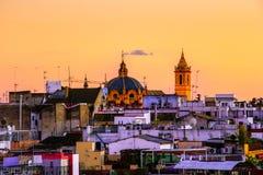 Panorama av den Sevilla Spain sikten Catedral de Sevilla Seville Cathedral royaltyfria bilder