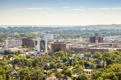 Panorama av den snabba staden, South Dakota fotografering för bildbyråer