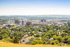 Panorama av den snabba staden, South Dakota Arkivbild