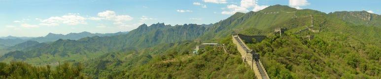 Panorama av den stora väggen av Kina Arkivbild