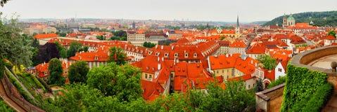 Panorama av den tjeckiska staden Royaltyfri Foto