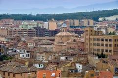 Panorama av den Tudela staden i Navarra, Spanien Royaltyfri Foto