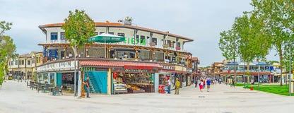 Panorama av den turist- zonen för sida Royaltyfri Fotografi