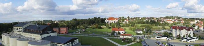 Panorama av den Wieliczka staden i Polen Arkivfoton