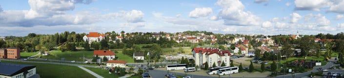 Panorama av den Wieliczka staden i Polen Arkivbild