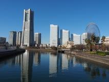 Panorama av den Yokohama staden i Japan arkivbilder