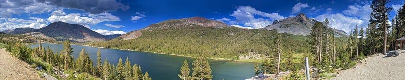 Panorama av den Yosemite nationalparken i Kalifornien, Förenta staterna Royaltyfri Fotografi