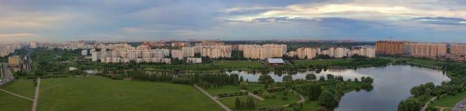 Panorama av det bostads- området Royaltyfri Fotografi