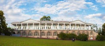 Panorama av det Cameron gallerit i Catherines parkerar i Tsarskoe Selo Royaltyfria Bilder