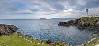 Panorama av det Fanad huvudet, ståndsmässiga Donegal, Irland Arkivfoto