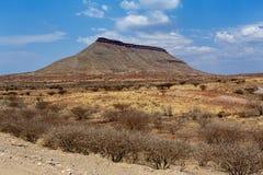 Panorama av det fantrastic Namibia landskapet Arkivbilder