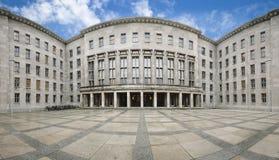 Panorama av det federala departementet av finans, Berlin, Tyskland Arkivfoto