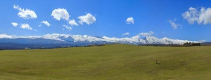 Panorama av det härliga landskapet Fotografering för Bildbyråer