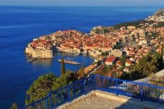 Panorama av Dubrovnik den gamla staden, Dalmatia Arkivfoton