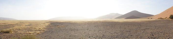 Panorama av dyn i Namibia fotografering för bildbyråer