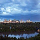 Panorama av Edmonton Royaltyfria Foton