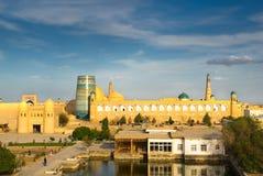 Panorama av en forntida stad av Khiva, Uzbekistan Royaltyfria Foton