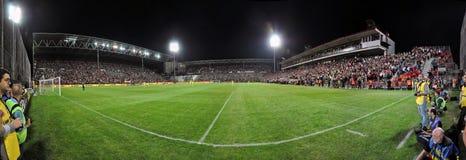Panorama av en fotbollstadion Royaltyfri Foto