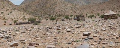 Panorama av en by i Namibia Royaltyfri Foto