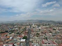 Panorama av en Mexico - stad Royaltyfri Foto