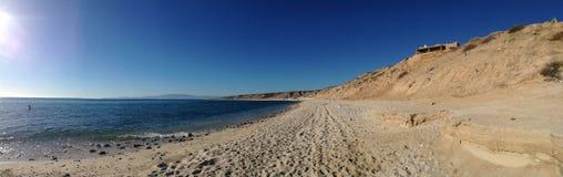 Panorama av en strand i cabo Arkivfoto