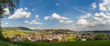 Panorama av Erlinsbach Arkivbild