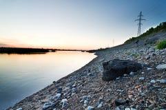 Panorama av floden Arkivfoto