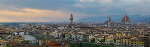 Panorama av Florence (Firenze - Italien) Royaltyfri Foto