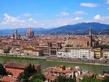 Panorama av Florence i sommar arkivfoton