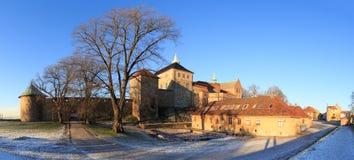 Panorama av fortet i Oslo, Norge arkivfoton