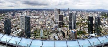 Panorama av Frankfurt am Main, Tyskland. royaltyfri bild