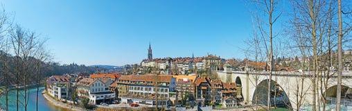 Panorama av gamla Berne Royaltyfria Bilder