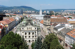 Panorama- av gamla Kosice Arkivbilder