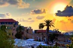 Panorama av gammala Jaffa royaltyfria bilder