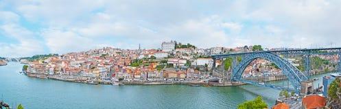 Panorama av gammala Porto Royaltyfri Foto