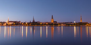 Panorama av gammala Riga Royaltyfri Foto