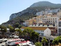 Panorama- av Gibraltar Royaltyfri Fotografi