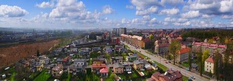 Panorama av Gliwice, Polen Royaltyfri Foto