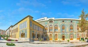 Panorama av Golestan stora byggnader, Teheran Fotografering för Bildbyråer