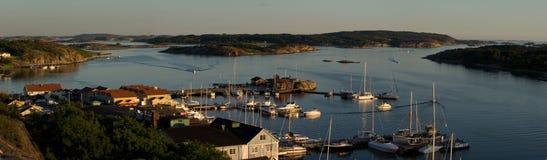 Panorama av Grebbestad Royaltyfria Bilder