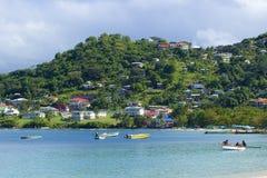 Panorama av Grenada som är karibisk Royaltyfria Foton