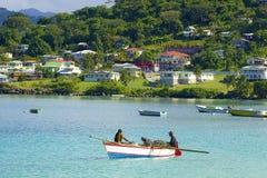 Panorama av Grenada som är karibisk Arkivbild