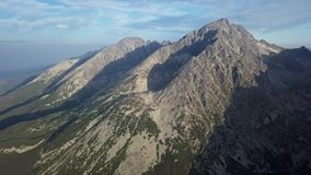 Panorama av höga Tatras berg arkivfilmer