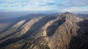 Panorama av höga Tatras berg stock video