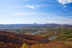 Panorama av hösten Royaltyfria Bilder