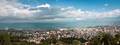 Panorama av Haifa Israel. Royaltyfria Bilder