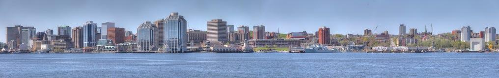 Panorama av Halifaxen, Nova Scotia horisont arkivfoto