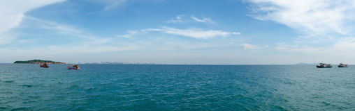 Panorama av havet Royaltyfri Fotografi