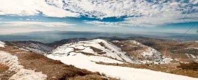 Panorama av Hermon Fotografering för Bildbyråer